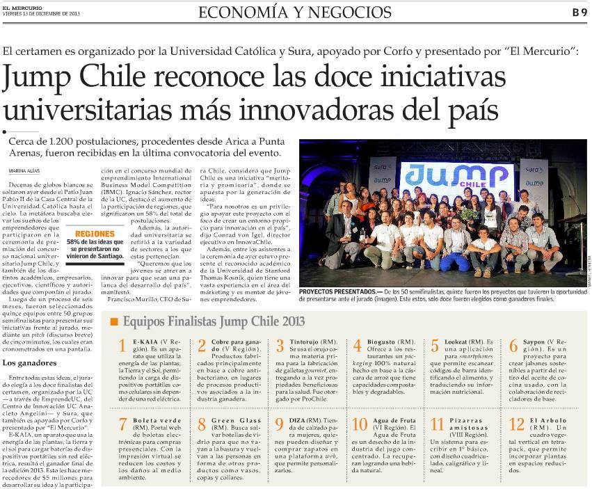 EL MERCURIO Economía y Negocio Viernes 13 de diciembre de 2013