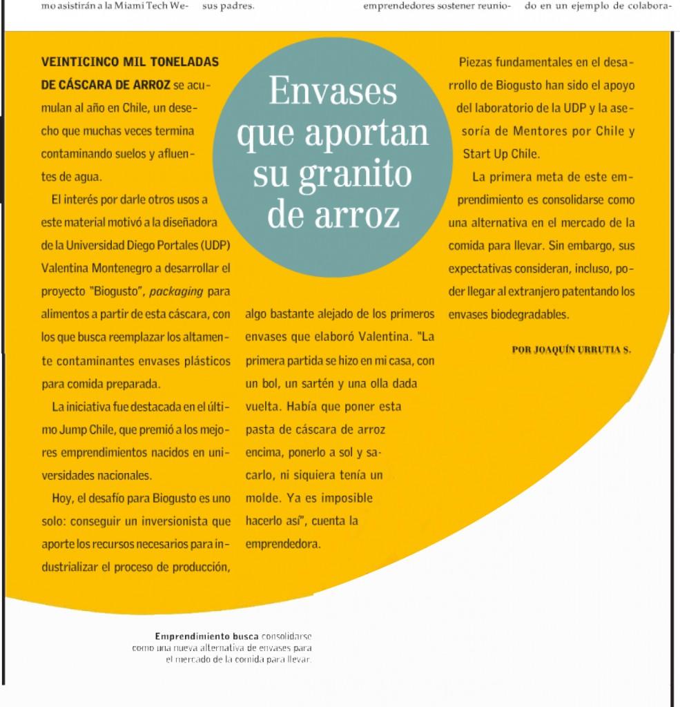 EL MERCURIO Innovación Lunes 17 de Marzo del 2014